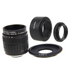 Fujian 35mm F1.7 CCTV Movie lens +C Mount +Hood to SONY E Mount Nex-5T 6 7 A6000
