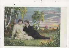 Le Soleil Au Loin Se Couche Romantic Greetings Postcard France 871a