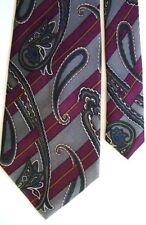 """Adolfo Men's Silk Paisley Neck Tie Red 4"""" x 57"""""""