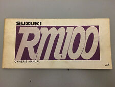 Suzuki RM100 Vintage Owners Manual  1975 /76   Used book . Good condition.