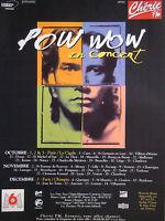 PUBLICITÉ 1993 RADIO CHÉRIE FM POW WOW EN CONCERT - ADVERTISING