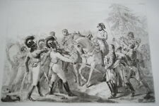 NAPOLEON ABENSBERG TROUPES BAVAROISES GRAVURE 1838 VERSAILLES R1155 IN FOLIO