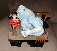 MICKEY MOUSE & YETI ABOMINABLE SNOWMAN EXPEDITION EVEREST PULL-BACK TRAIN TOY