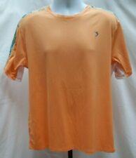Pre-owned Reel Legends Reel-Tec Orange Fishing Shirt Size M F178