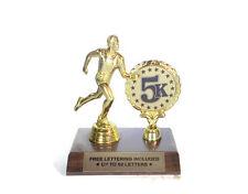 5K Race Trophy- Male Runner- Running- Custom- Track- Race- Free Lettering