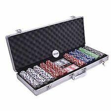 Pokerkoffer Set Aluminium mit 500 Chips