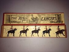 Pre War British Toy Lead Soldiers #33 Box 16th Queens /5th Royal Irish Lancers