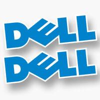 2x DELL Sticker Vinyl Decal Laptop Computer Cover Logo Sponsor