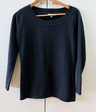 Stylish Black Wool Jumper from Laura Ashley- size XS