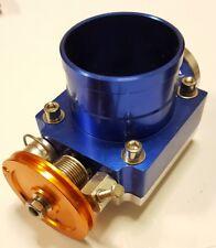 Universal Intake Throttle Body 70mm Butterfly Valve Blue Anodized Drift Kitcar
