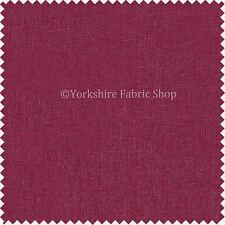 New Soft Thin Linen Effect Plain Pink Chenille Upholstery Curtains Fabric - 968