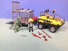 (K3) playmobil Véhicule amphibie capture T-rex ref 4175
