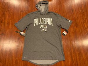 Nike Men's Philadelphia Eagles Short Sleeve Hoodie Jersey Shirt Large L NFL