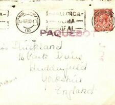 Spain Cover MALLORCA Palma Super PAQUEBOT GB Yorks Huddersfield 1933 Q29b