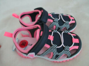 Carter's Girls Sandals  Blue and Pink size 10- NWT
