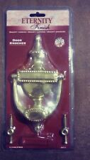 Engravable Solid Pvd Brass Weather Resistant Colonial Style House Door Knocker