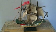 "Vintage La Pinta Wooden Small 12"" X 13"" Collectible Handmade Ship"