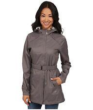 LOLE Stratus Women's Waterproof Tech Coat Jacket~Hood & Belt~Oyster Nylon~Sz XL