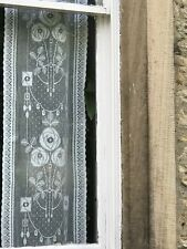 "Rennie Mackintosh 16"" Wide sidelight panelling Yardage Off Roll cotton lace Crem"