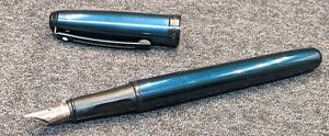 Sheaffer Prelude fountain pen, petrol blue, and parts lot of pens