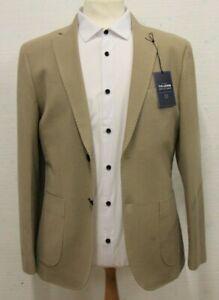 Men's T.M.LEWIN Adley Slim Fit Jacket in Neutral Cotton Ref...7579