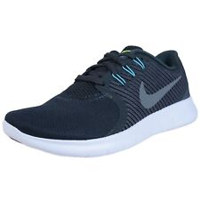 NIKE WOMENS FREE RN CMTR RUNNING SHOES ANTHRACITE COOL GREY BLUE 831511 008