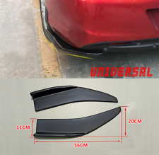 2X Universal ABS Car Bumper Spoiler Rear lip Canard Diffuser Anti-crash Black