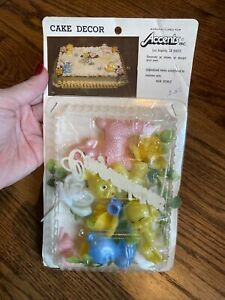 Accent Inc. Vintage Congratulations Baby Cake Decoration Topper NIP Unopened.