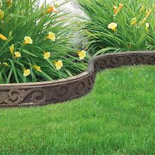 Garden Edging Lawn Border Flexible Shape Wall Path Eco Recycled Rubber  Spiral