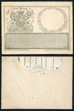 1830 Irish identity card for the Window Officer POST OFFICE and Royal Coat of A