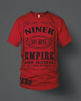49ers Niner Empire T-Shirt Red & Black (New) San Francisco Faithful Edition