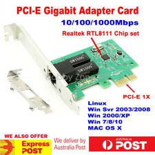 PCI-E Gigabit Ethernet Network Card 1000Mbps Adapter RTL8111 Chip Low Profile