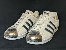 Adidas mi Custom White Suede Silver Metal Toe Sneakers Men Size 10 M, Rare