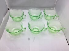 Green Uranium Glass Cup set of 6