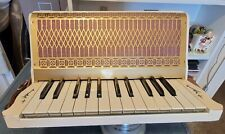 Hohner Accordion Pre 1930 12/25 Beige and Gold Excellent Condition New Grill