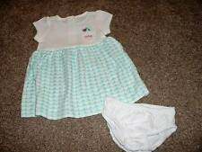 Gymboree Dress 0-3 months Size Baby Girls Birds & Dinos Teal Hearts Set NWT NEW