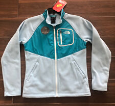 NORTH FACE GIRLS GLACIER TRACK JACKET NIMBUS BLUE OR MID GRAY $55 SZ L (14-16)