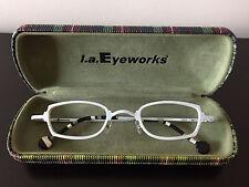 Rare White L.A. Eyeworks Titanium Frame