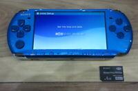 Sony PSP 3000 console Vibrant Blue w/4GB Memory Stick Japan a27