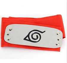 DZ776 Sale NARUTO Ninja Headband Head Band bandana Cosplay Hatake Kakashi RED ψ
