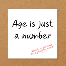 Birthday card funny humorous 50th 60th getting old age dad mum friend aged cheek