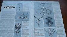 1970/1980 Antique Magazine article on Arts & Crafts Jewellery by Vivienne Becker