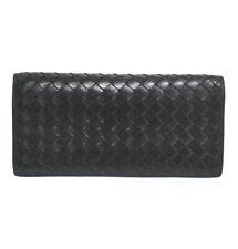 BOTTEGA VENETA Intrecciato Bifold Long Wallet Black #49911 from Japan