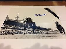 Secretariat - Ron Turcotte Signed Kentucky Derby B/W Photo w/ COA