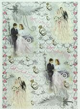 Rice Paper for Decoupage Decopatch Scrapbook Craft Sheet Vintage Wedding Day