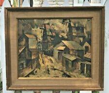 "Melvin N. Jennings Original Oil/Acrylic Mid Century Painting on Board 22"" x 18"""