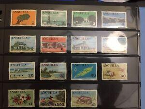 Anguilla 1967-68 SC#17-31 MNH MINT NO HINGED,  complete set, CV US$17.70