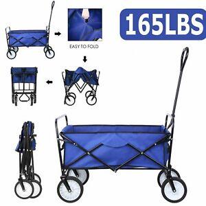 Sports Collapsible Folding Wagon Shopping Cart Utility Garden Buggy Camp Cart US