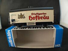 Märklin 4439 Wagon marchandises Stuttgarter Hofbräu bierwagen neuf boite MIB