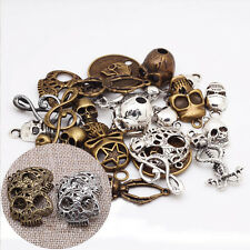 Retro 100g Steampunk Mixed Skull Pendant Charm Jewelry Making Crafts Accessories